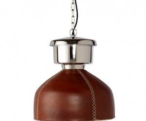 Leather Dome Pendant at HudsonGoods.com