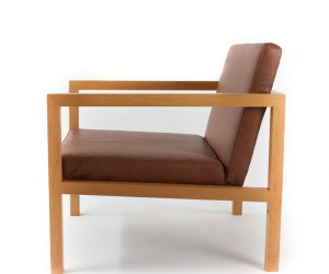 Leather Lounge Chair by Steve Guan