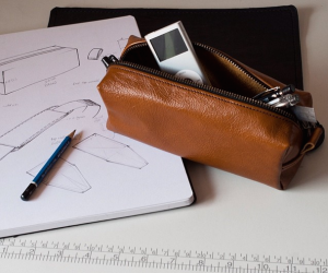 Leather Mahogany Pencil Case