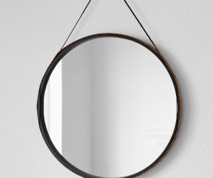 Leather Wrapped Mirror by Owen Architecture