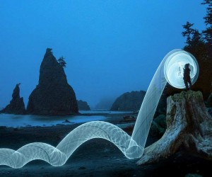 LED Hula Hoop Light Photography by Grant Mallory