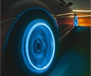 LED wheel lights cool car accessory