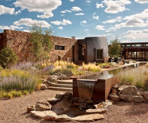 LEED Platinum New Mexico Retreat Half-Buried in Desert Terrain