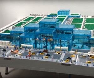 Lego model of Javits Center