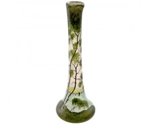 Legras Art Nouveau Hand Painted Glass Vase