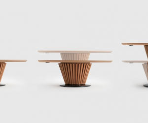 Leonardo Table design by Carlo Forcolini for Atanor