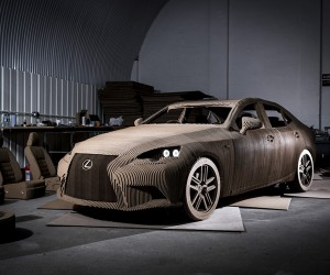 Lexus Creates Working Full-Size Car Made of Cardboard