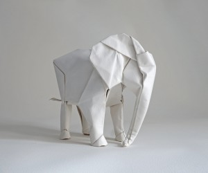 Life-Sized Elephant Origami by Sipho Mabona