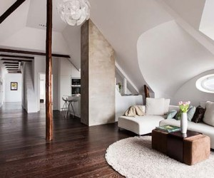 Light and Airy Four-Room Loft in Sweden Exhibits Intriguing Layout