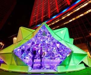 Light Origami at Vivid Sydney 2015