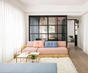 Lim  Lu designed a delicate and simple apartment in Hong Kong, China