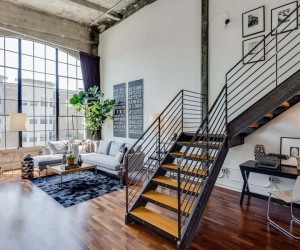 LiveWork Conversion Loft in San Francisco With Vaulted Concrete Ceilings  Read more: http:freshome.com20141017livework-conversion-loft-in-san-francisco-with-vaulted-concrete-ceilingsixzz3GPi2w5wT