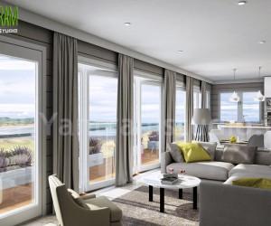Living Room design ideas, interiors  pictures by Yantram architectural studio - Atlanta, USA
