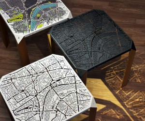 London Map Side Table