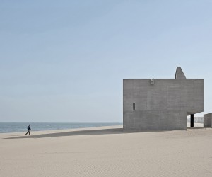 Lonely Seashore Library in China by Vector Architects