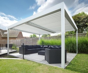 Louvered patio roofs for modern architectural design projects