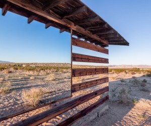 Lucid Stead light installation by artist Phillip K. Smith III in Joshua Tree, California