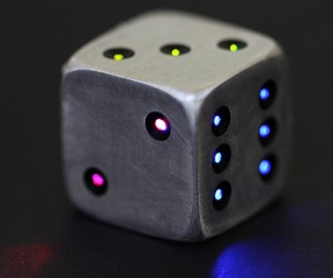LUMA DICE, Metal LED Powered Light Dice. The coolest dice for your boardgames