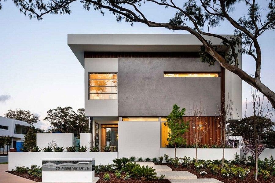 Modern Front Elevation Perth : Luxurious decor and minimalist overtones shape stylish