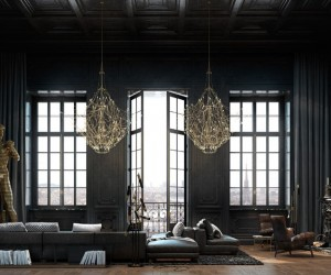 Luxury interiors with a charming aesthetics in Paris