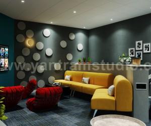 Luxury Modern Media Room 3D Interior Modeling Design by Yantram 3D Animation Studio, California - USA