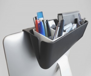 Mac Caddy - A one of a kind storage solution designed for the iMac to declutter your desktop