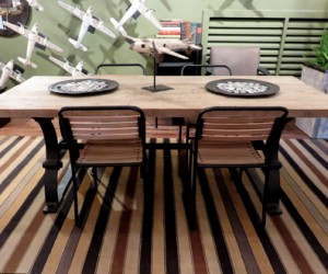 Machinist Oak Dining Table at HudsonGoods.com