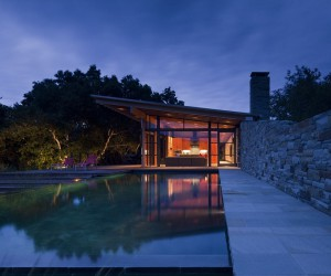Magical Mountain Views Greet You at this Guest House in Santa Lucia Preserve