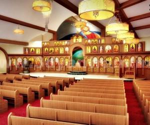 Magnificent 3D Church Auditorium Design View
