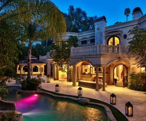 Magnificent Mediterranean Estate Boasting Outdoor Tropical Oasis