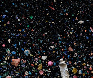 Mandy Barker Arranges Rainbows of Plastic Trash Swirling in the Ocean