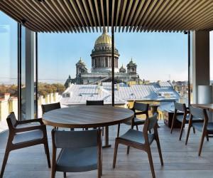 Mansarda Restaurant: Inventive Design Meets Grand St. Isaacs Cathedral Views