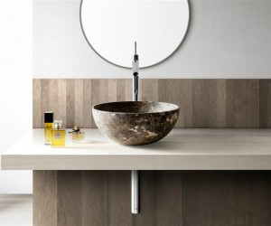 Marble bathroom furniture by Kreoo