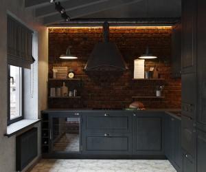 Masculine loft by VAE Design Group