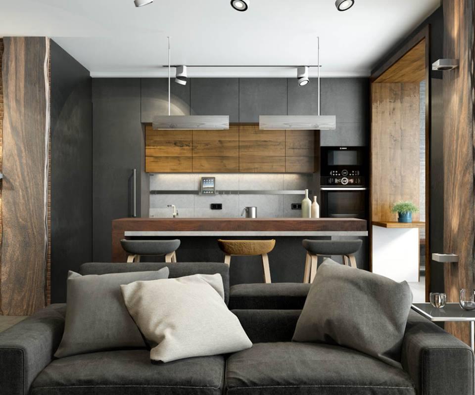 Masculine Loft Design By Vm Studio