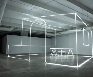 Massimo Uberti Neon Tubes installation for Bentley