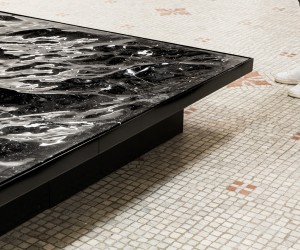 Mathieu Lehanneur Liquid Marble Installation in Paris