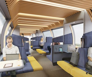 Mecanoo Envisions New Interior For The Train Of The Future