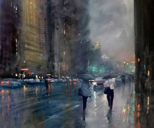 Melbournes Rainy Cityscapes by Mike Barr