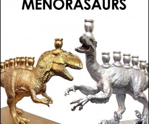Menorasaurs - Dinosaur Menorahs from The Vanilla Studio