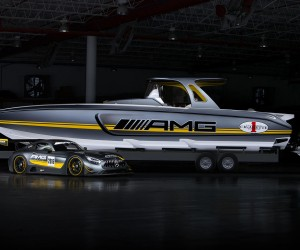 Mercedes-AMG x Cigarette Racing 41 SD GT3 boat