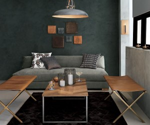 Metal Flooring, Dark Walls and Other Unexpected Touches