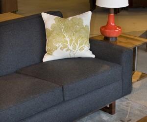 Metro Sofa In Dark Grey Wool