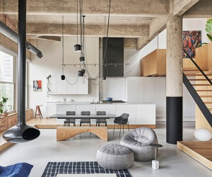 Michigan Loft Inside a Century Old Structure