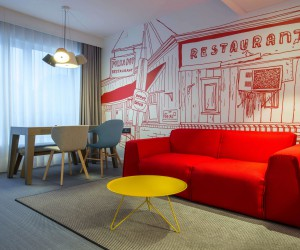 Milano Bedding for the contemporary hotel suite at Radisson Red in Brussels