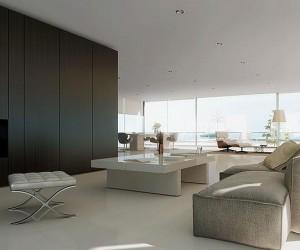 Minimal 3D Interior Living Room Design View