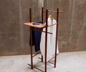 Minimal Valet Stand With  Without shelf from Tidyboy - Berlin