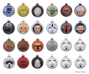 Minimalist Artistic Design Star Wars Holiday Ornaments