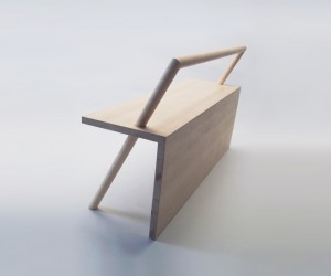 Minimalist Bench by Kana Nakanishi