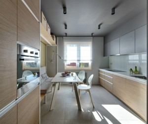 Minimalist design apartment in Kiev